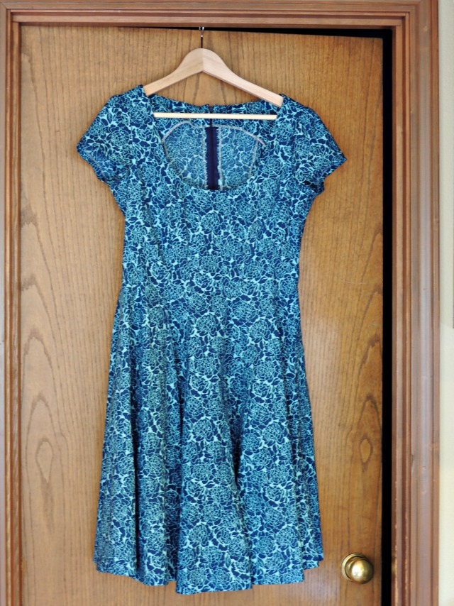 Blue Flowers Spring Dress-1