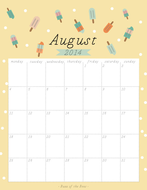 August-2014-Calendars