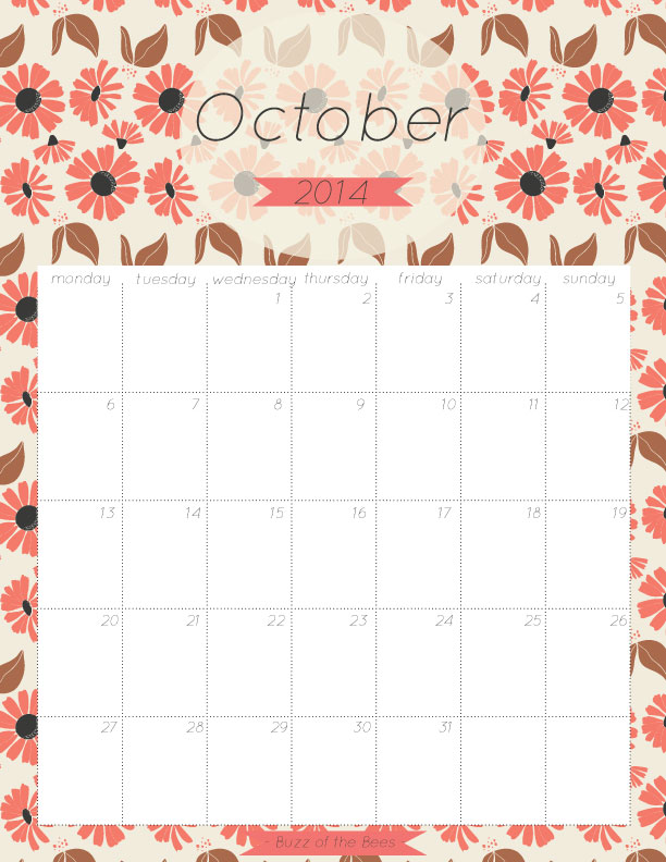 October-2014-Calendars
