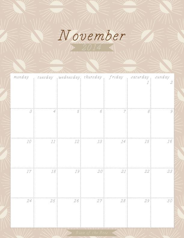 November-2014-Calendar